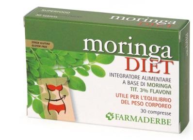 Farmaderbe Moringa Diet Integratore Peso Corporeo 30 Compresse