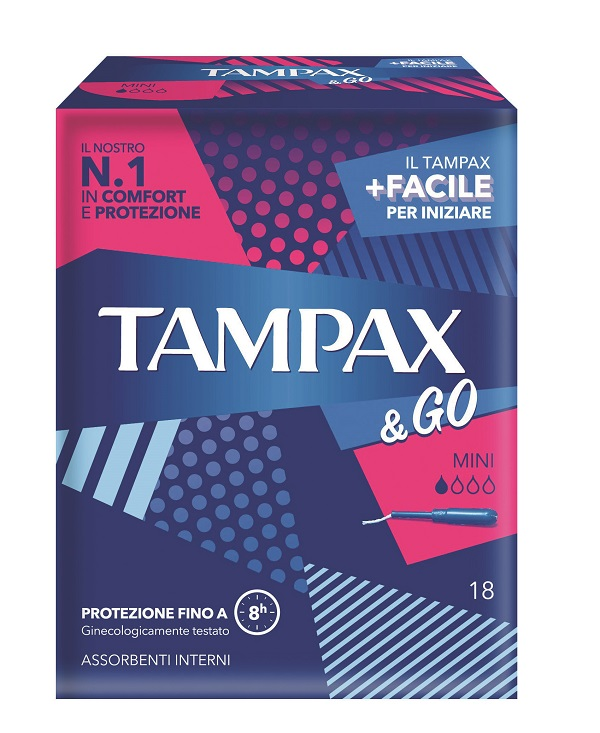 TAMPAX & GO MINI 18 PEZZI - latuafarmaciaonline.it