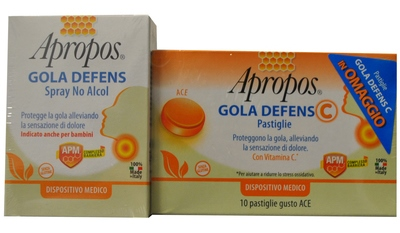 APROPOS SPRAY NASO + PASTIGLIA GOLA DEFENCE C GUSTO ACE PROMO - Farmacia Giotti