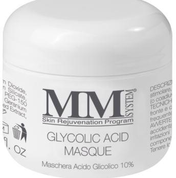 MM System Glycolic Acid Masque Maschera Viso Nutriente con Acido Glicolico 10% 75 ml
