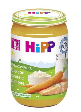 HIPP PAPPA PRONTA RISO CAROTE SALMONE 220 G - Parafarmacia la Fattoria della Salute S.n.c. di Delfini Dott.ssa Giulia e Marra Dott.ssa Michela