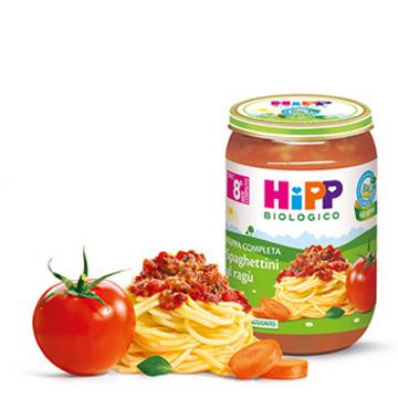 HIPP BIO SPAGHETTINI AL RAGU' 220 G - Farmajoy