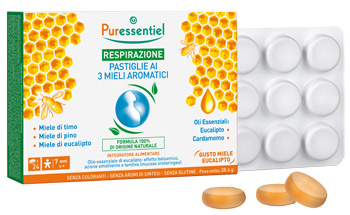 Puressentiel Pastiglie Respirazione ai 3 Mieli Aromatici 24 pastiglie