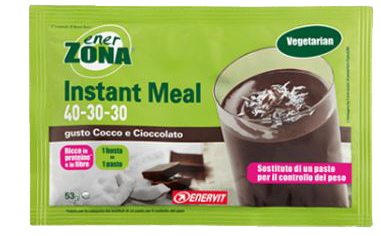 ENERZONA INSTANT MEAL COCCO E CIOCCOLATO 53 G - Farmaedo.it