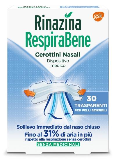 RINAZINA RESPIRABENE CEROTTI NASALI TRASPARENTI CARTON 30 PEZZI - Farmaciaempatica.it