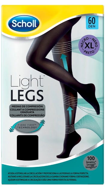SCHOLL LIGHTLEGS 60 DENARI TAGLIA XL COLORE NERO 1 PAIO - Farmafamily.it