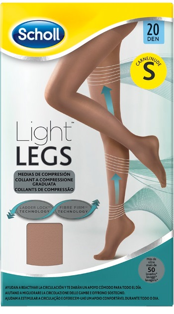 SCHOLL LIGHTLEGS 20 DENARI TAGLIA S COLORE NUDE 1 PAIO - Farmafamily.it