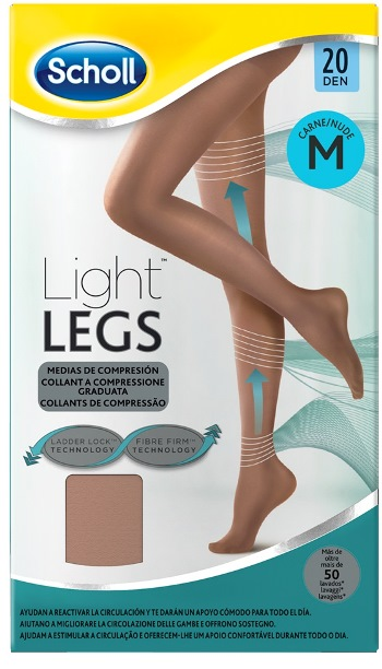 SCHOLL LIGHTLEGS 20 DENARI TAGLIA M COLORE NUDE 1 PAIO - Farmafamily.it