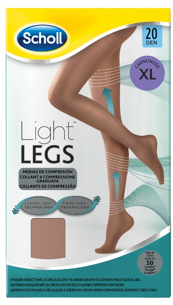 SCHOLL LIGHTLEGS 20 DENARI TAGLIA XL COLORE NUDE 1 PAIO - Farmafamily.it