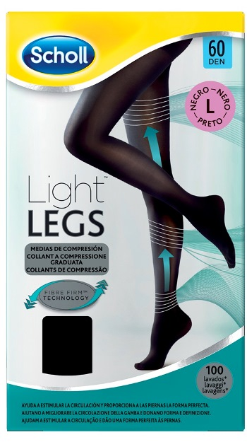SCHOLL LIGHTLEGS 20 DENARI TAGLIA L COLORE NERO 1 PAIO - Farmafamily.it