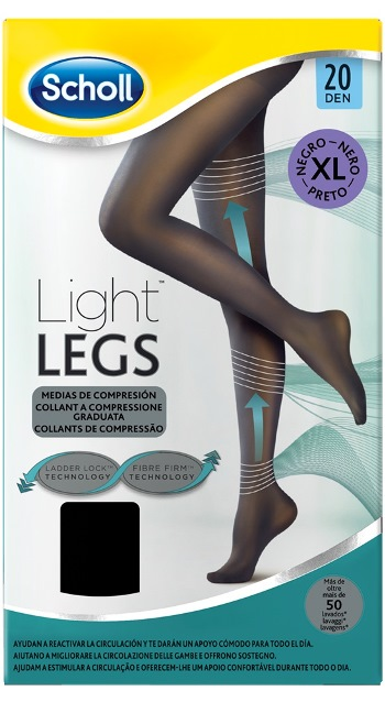 SCHOLL LIGHTLEGS 20 DENARI TAGLIA XL COLORE NERO 1 PAIO - La farmacia digitale