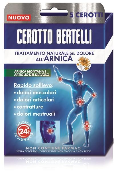 BERTELLI CEROTTO ARNICA ASTUCCIO 5 PEZZI - Parafarmacia la Fattoria della Salute S.n.c. di Delfini Dott.ssa Giulia e Marra Dott.ssa Michela