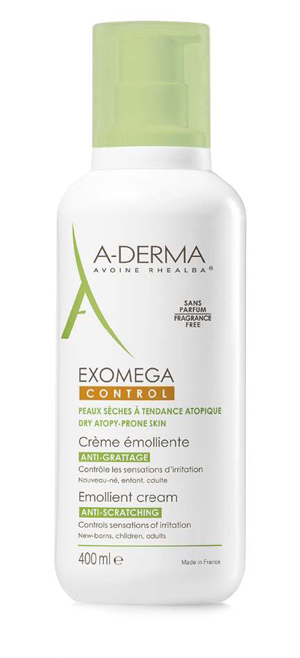 ADERMA LINEA EXOMEGA CONTROL CREMA CORPO EMOLLIENTE LENITIVA PELLE SECCA E ATOPICA 400 ML - Farmastar.it