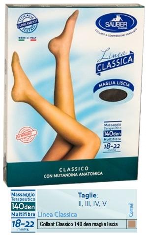 SAUBER CLASSICO COLLANT 140 DENARI MAGLIA LISCIA CAMEL 5