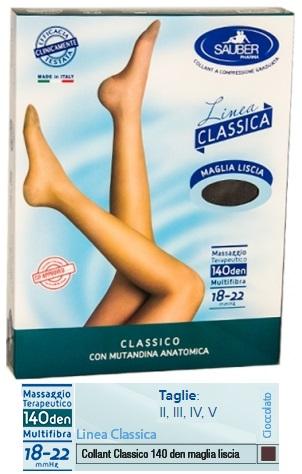SAUBER CLASSICO COLLANT 140 DENARI MAGLIA LISCIA CIOCCOLATO 4 - farmaventura.it