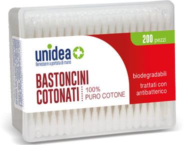 UNIDEA BASTONCINI COTONATI 200 PEZZI - Spacefarma.it