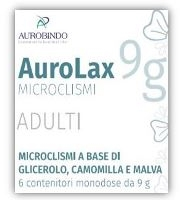MICROCLISMI PER ADULTI AUROLAX 6 CONTENITORI 9 G - Farmia.it