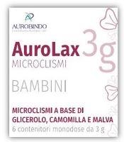 MICROCLISMI PER BAMBINI AUROLAX 6 CONTENITORI 3 G - La farmacia digitale