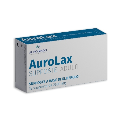 SUPPOSTE AUROLAX GLICEROLO 2500 MG 18 SUPPOSTE - Farmacia Giotti