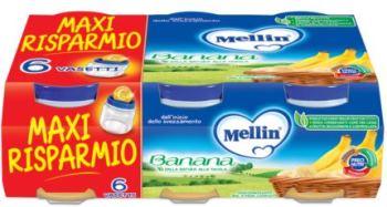 MELLIN OMOGENEIZZATO BANANA 6 X 100 G - Farmastar.it