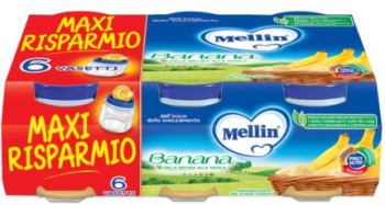 MELLIN OMOGENEIZZATO BANANA 6 X 100 G - Farmapage.it