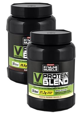 Gymline Muscle Vegetal Protein Blend Gusto Panna-Vaniglia Integratore Proteine di Soia 800 g