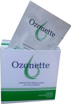 GARZA OZONETTE IMBIBITA DI OLII OZONIZZATI 15 X 15 CM 15 BUSTINE - Farmaci.me