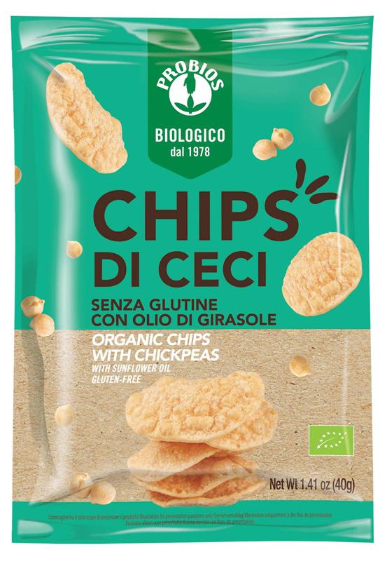 PROBIOS CHIPS DI CECI 40 G - Farmabenni.it