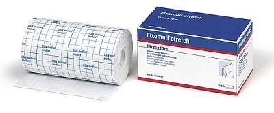 FASCIA AUTOADESIVA IPOALLERGENICA FIXOMULL STRETCH PER FISSAGGIO CATETERI M 10 X 5 CM - Farmaseller