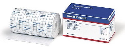 FASCIA AUTOADESIVA IPOALLERGENICA FIXOMULL STRETCH PER FISSAGGIO CATETERI M 5 X 5 CM - Farmafamily.it