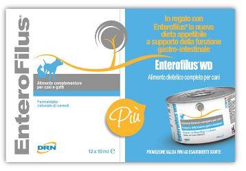 ENTEROFILUS 12 X 10 ML + ENTEROFILUS WET DIET 150 G IN OMAGGIO