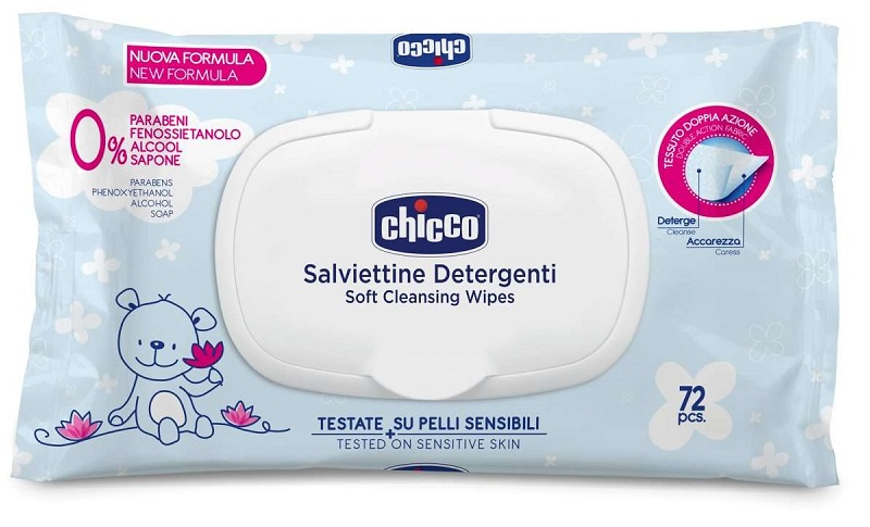 CHICCO COSMESI SALVIETTE 72 PEZZI PLAQ - Farmafirst.it