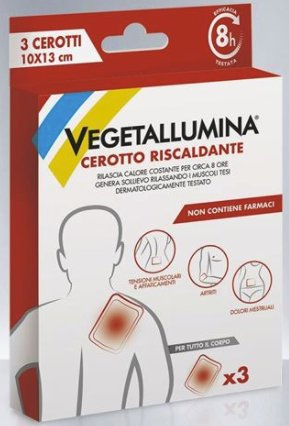 VEGETALLUMINA CEROTTO RISCALDANTE 3 PEZZI - Spacefarma.it