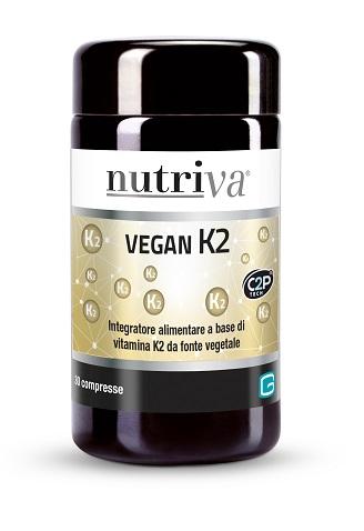 NUTRIVA VEGAN K2 30 COMPRESSE - Parafarmacia la Fattoria della Salute S.n.c. di Delfini Dott.ssa Giulia e Marra Dott.ssa Michela