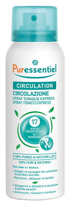PURESSENTIEL SPRAY TONICO EXPRESS CIRCOLAZIONE 100 ML - Farmacia33