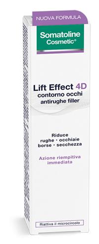 Somatoline Cosmetic Lift Effect 4D Contorno Occhi Antirughe Filler 15 ml