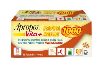 APROPOS VITA+ PAPPA REALE 1000MG 10 FLACONCINI DA 10 ML - Farmaunclick.it