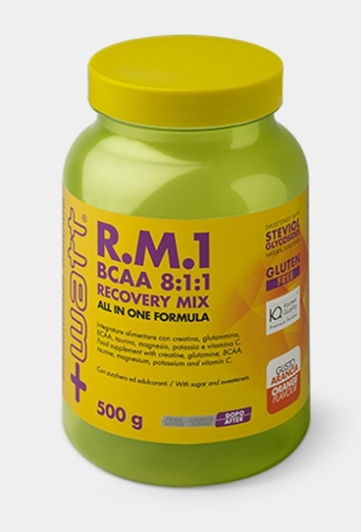 RM1 BCAA 811 RECOVERY MIX ALL IN ONE FORMULA 500 G GUSTO ARANCIA - Parafarmacia la Fattoria della Salute S.n.c. di Delfini Dott.ssa Giulia e Marra Dott.ssa Michela