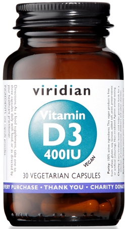 VIRIDIAN VITAMIN D3 400IU 30CPS - Farmastar.it