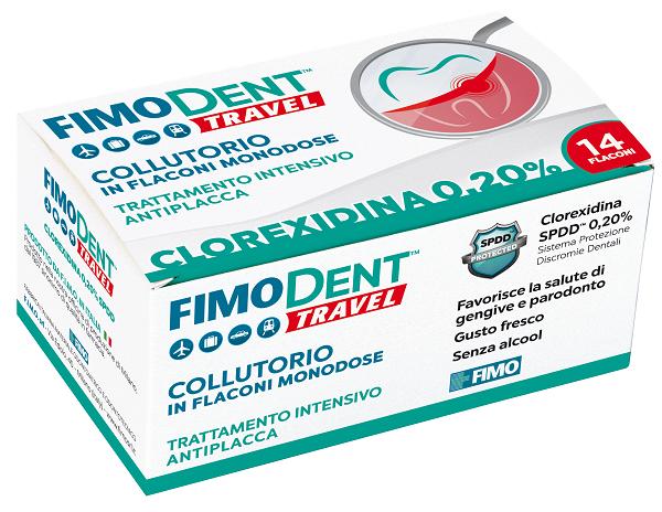 FIMODENT TRAVEL COLLUTORIO CLOREXIDINA SPDD 0,20% 14 FLACONCINI MONODOSE 10 ML - Farmabaleno