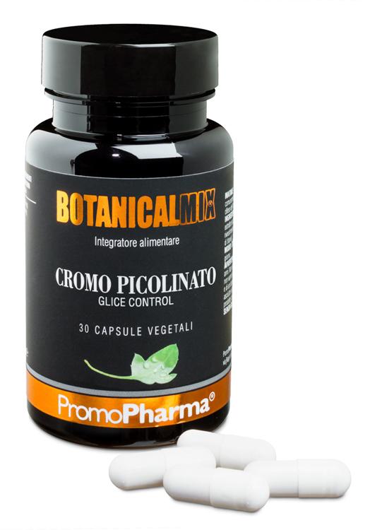 CROMO PICOLINATO GLICE CONTROL BOTANICAL MIX 30 CAPSULE - Farmacia Centrale Dr. Monteleone Adriano
