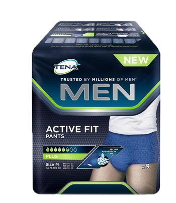 PULL UP UOMO TENA MEN PANTS ACTIVE FIT M 9 PEZZI - Zfarmacia