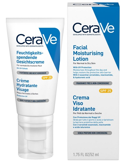 CERAVE CREMA VISO IDRATANTE SPF25 52 ML - Spacefarma.it