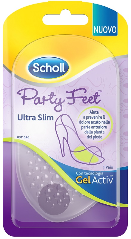 PLANTARE CON CUSCINETTO PARTY FEET GEL ACTIV ULTRA SLIM 1 PAIO - farmaciadeglispeziali.it