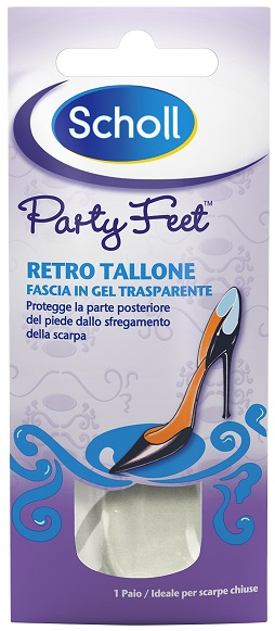 PLANTARE ORTOPEDICO PER RETRO TALLONE PARTY FEET SCHOLL GEL ACTIV 1 PAIO - Farmacia 33