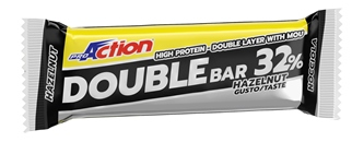 PROACTION DOUBLE BAR 32% NOCCIOLA CARAMELLO 60 Grammi - La tua farmacia online