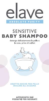 ELAVE BABY SHAMPOO DELICATO SENZA SOLFATI 400 ML - Farmacia33