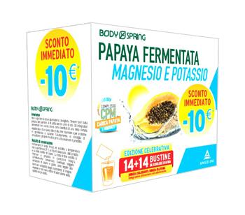 BODY SPRING BIPACK PAPAYA MAGNESIO POTASSIO 14 BUSTINE OROSOLUBILI - Farmaunclick.it