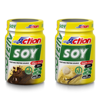 PROACTION SOY PROTEIN CHOCO CREAM 500 G - Farmacia Giotti