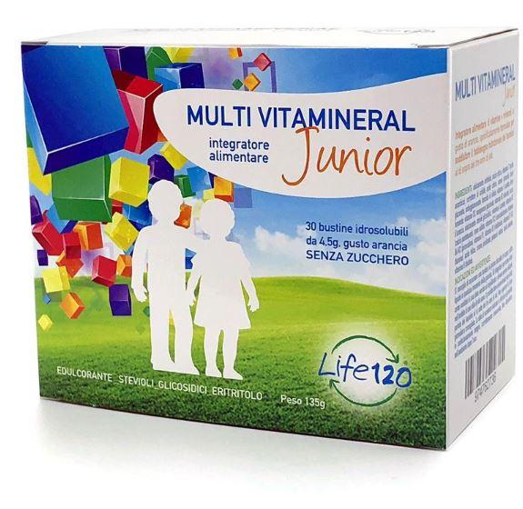 MULTI VITAMINERAL JUNIOR 30 BUSTINE - Farmacia Centrale Dr. Monteleone Adriano